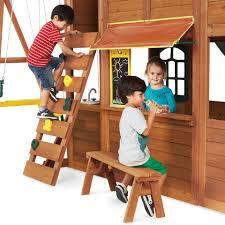 big backyard falcon ridge premium wood swing set toys