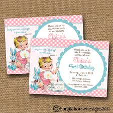 baby u0027s first birthday invitation vintage baby