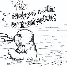 bright and modern water safety coloring pages coloring sheets for