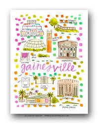gainesville map gainesville fl map print henson