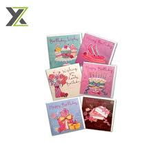 full color printing creative handmade birthday greeting cards with