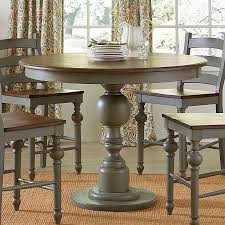 hillsdale cameron dining table counter height round dining table contemporary colonnades room set