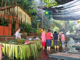 Villa Escudero Waterfalls Restaurant A Restaurant In The Middle Of A Waterfall