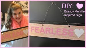 Brandy Melville Home Decor Diy Brandy Melville Inspired Wooden Sign Youtube