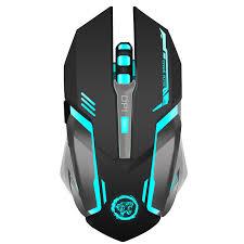 souris pour ordinateur de bureau rechargeable sans fil gaming mouse 7 color rétroéclairage souffle