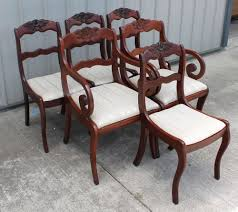 6 willet roseback solid cherry empire duncan phyfe dining room