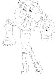 wolf face coloring page 79 best monster high clawdeen wolf 2 images on pinterest monster