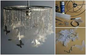 How To Make A Diy Chandelier Butterfly Chandelier Mobile Diy Tutorials