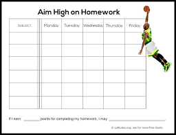 printable homework incentive charts list of synonyms and antonyms of the word homework completion chart