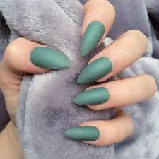 doobys nails khaki matte 24 glue on hand painted stiletto