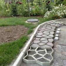 diy plastic path maker mold manually paving cement brick molds patio