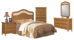 Wicker Rattan Bedroom Furniture by Santa Cruz Wicker Rattan 5 Piece Tropical Bedroom Furniture Set