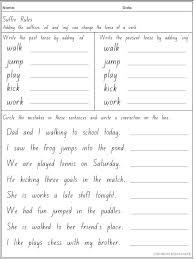 write the pattern of past tense and give exle rule adding suffixes ed and ing changes the tense of a verb