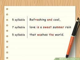 how to write a haiku poem with sample poems wikihow