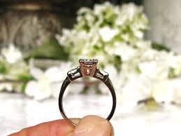 vintage engagement ring 0 58ctw emerald cut diamond art deco
