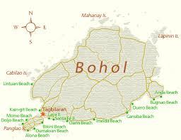 alona resort map the beaches of bohol