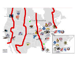 North American Time Zones Map by From Ducks To Nucks Jake U0027s Take Nhl Redivide