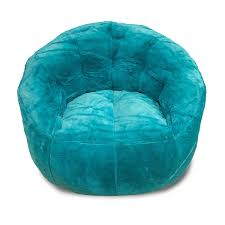 furniture giant bean bag chair with blue color and fur bean