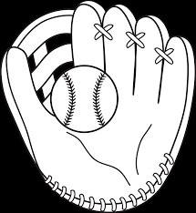 baseball and mitt line art printables pinterest embroidery