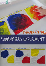 primary colours squishy bag experiment primary colors