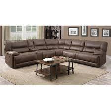 cognac leather reclining sofa cognac brown 6 piece 2x power reclining sectional kharma rc