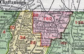 county map ga catoosa county 1911 map rand mcnally ringgold