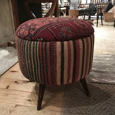 Vintage Rug We Have A Large Selection Of Vintage Rug Ottomans Available Now