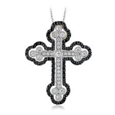 custom pendant 18k white gold style diamond cross pendant virtue collection
