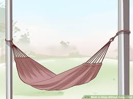 6 ways to sleep without using a bed wikihow