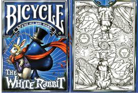 buy magic tricks bicycle white rabbit unlimited white deck