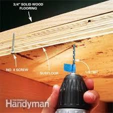 Squeaky Bathroom Floor How To Fix Squeaky Floors Family Handyman