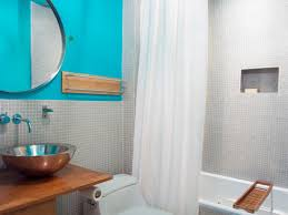 Curtain Colors For White Walls by Pleasant Decor For Bathroom Color Schemes With Big Cirlce Mirror