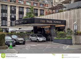 the park tower hotel london knightsbridge editorial photography