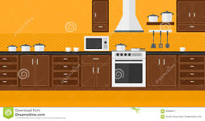Kitchen Background Background Of Kitchen With Appliances Stock Vector Image 65985917
