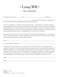 Sample Power Of Attorney Texas by Living Will Forms What Is A Living Will Free Printable Living