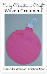 easy christmas craft woven ornament preschoolspot education