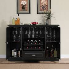 Mini Bar Table Decorations Attractive Modern Black Open Bar Table As Wine