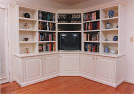 Redford White Corner Bookcase by Furniture Large White Wooden Corner Bookcase With Storage And