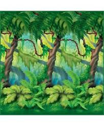 jungle backdrop jungle trees backdrop 4 high x 30 partybell