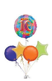 birthday balloon delivery colourful happy 10th birthday balloons age balloon delivery