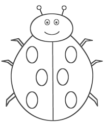 oval coloring page ladybug coloring page itgod me