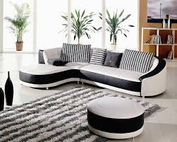 canapé d angle noir et blanc pas cher le canapé d angle en cuir 60 idées d aménagement archzine fr