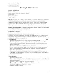 Create Cover Letter For Resume Astonishing How To Write A Killer Resume 12 Cover Letter Killer