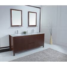 Contemporary Bathroom Vanities Galant 72 Inch Contemporary Double Sink Bathroom Vanity With