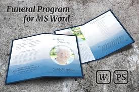 memorial service program template brochure templates creative