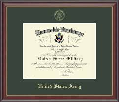 honorable discharge certificate united states army us army honorable discharge certificate frame