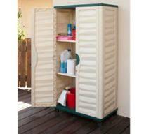 Horizontal Storage Cabinet Outdoor Storage Cabinet Garden Vertical Partition Plastic
