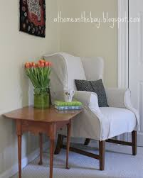 Wing Chairs For Living Room by Wing Chair Slipcover