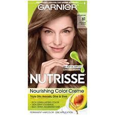light ash brown hair color amazon com garnier nutrisse nourishing hair color creme 61 light