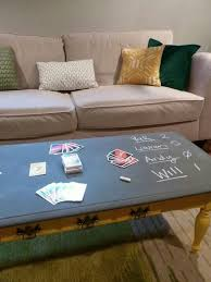 chalkboard table for game nights good morning coffee